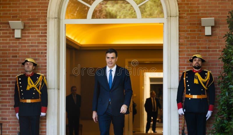 Primeiro ministro da Espanha Pedro Sanchez imagens de stock