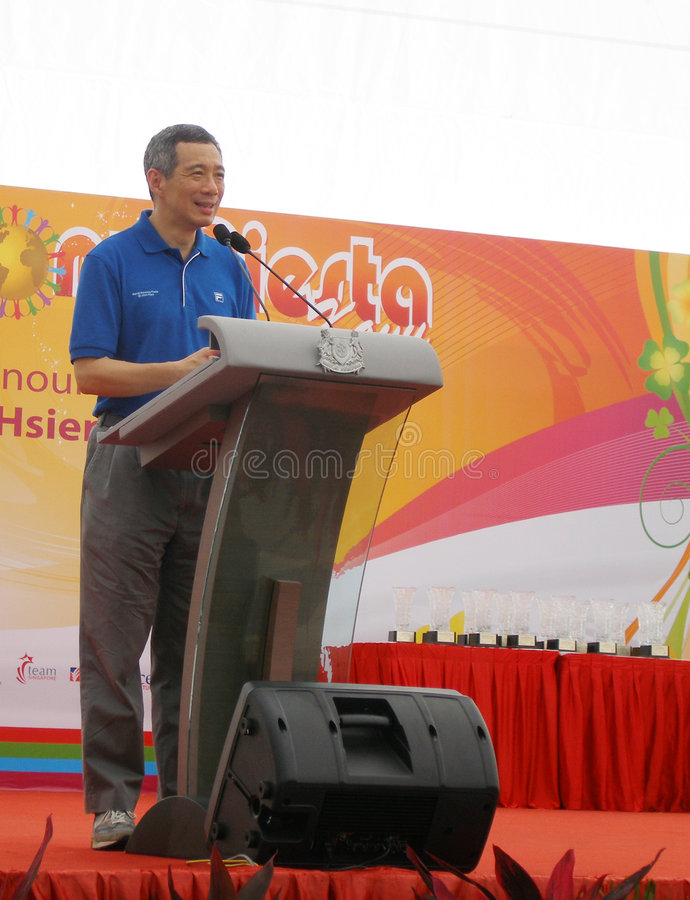 Primeiro ministro de Singapore fotos de stock