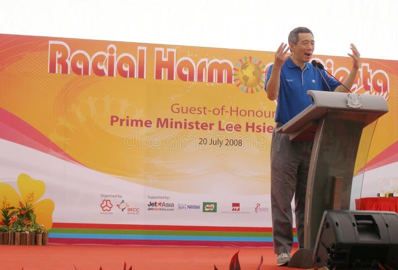 Primeiro ministro de Singapore foto de stock