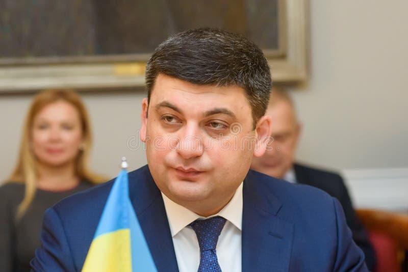 Primeiro ministro de Ucrânia Volodymyr Groysman imagem de stock royalty free