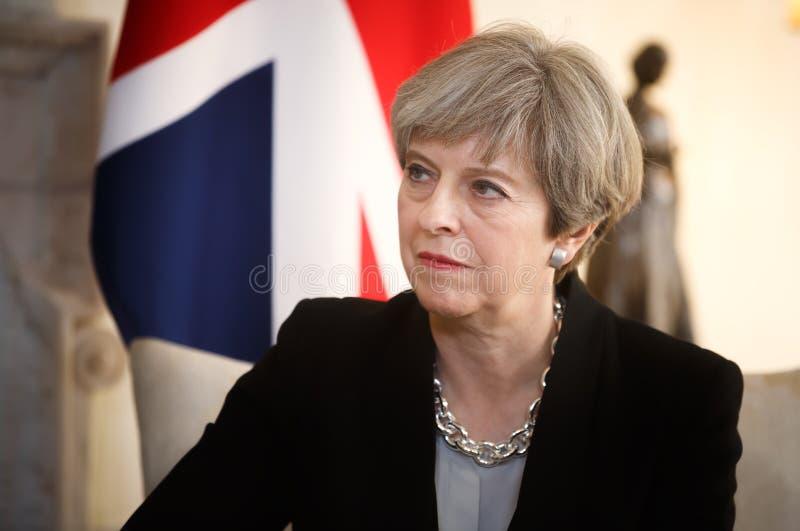 Primeiro ministro do Reino Unido Theresa May imagens de stock