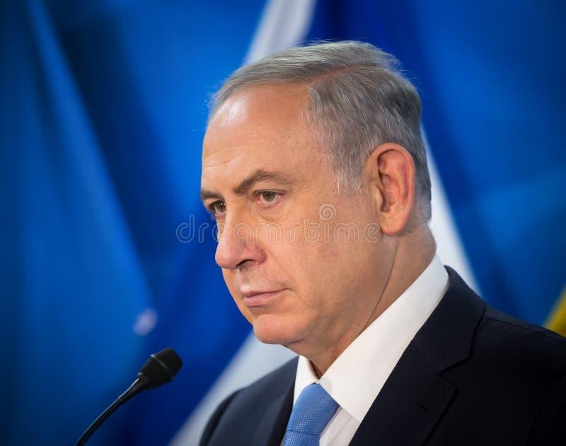 Primeiro ministro israelita Benjamin Netanyahu fotos de stock royalty free