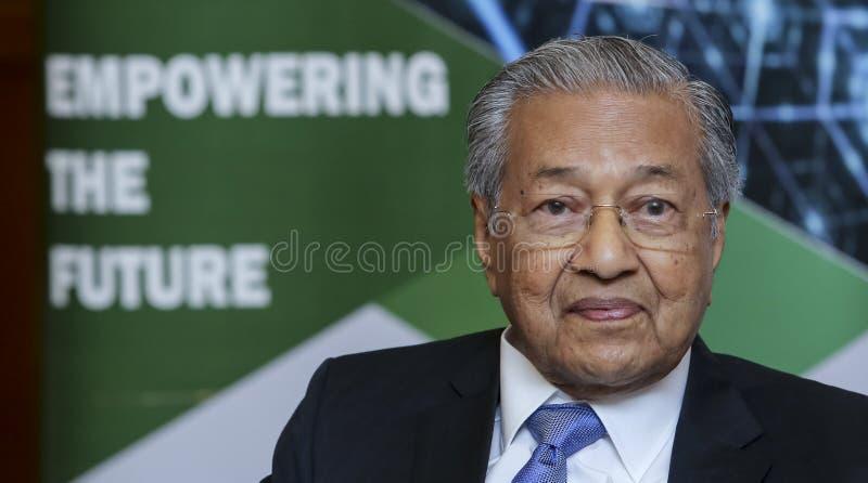 Primeiro ministro Mahathir Mohamad de Malásia imagens de stock