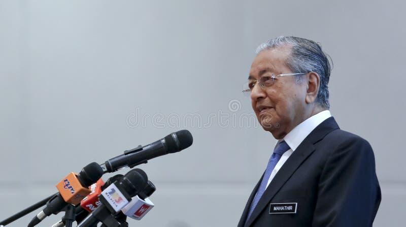 Primeiro ministro Mahathir Mohamad de Malásia imagens de stock royalty free