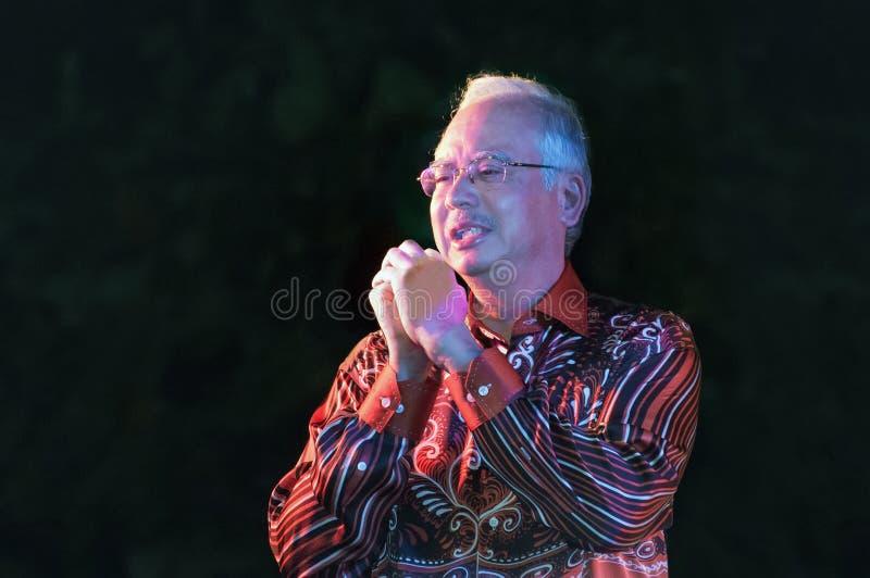 Primeiro ministro malaio Najib Razak imagens de stock