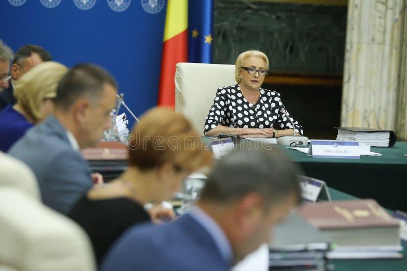 Primeiro ministro Viorica Dancila de Romania's imagem de stock