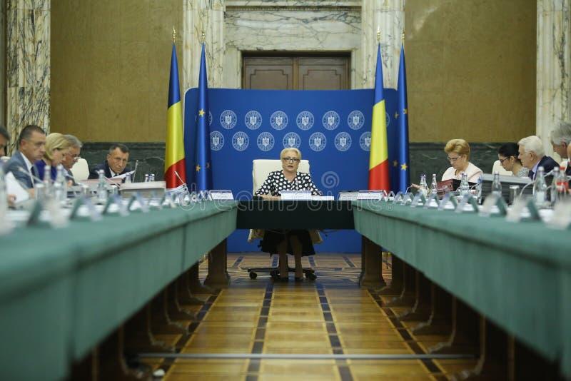 Primeiro ministro Viorica Dancila de Romania's foto de stock royalty free