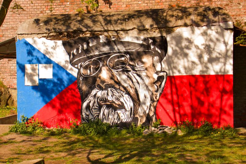 Primeiro presidente Czechoslovak T g Masaryk, Olomouc, rep?blica checa fotografia de stock