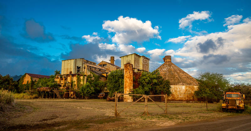 Primeiro Sugar Mill em Kauai Havaí fotografia de stock