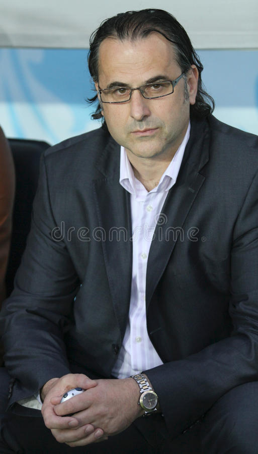 Primeiro treinador do dínamo Miodrag Bozovic de FC imagens de stock royalty free