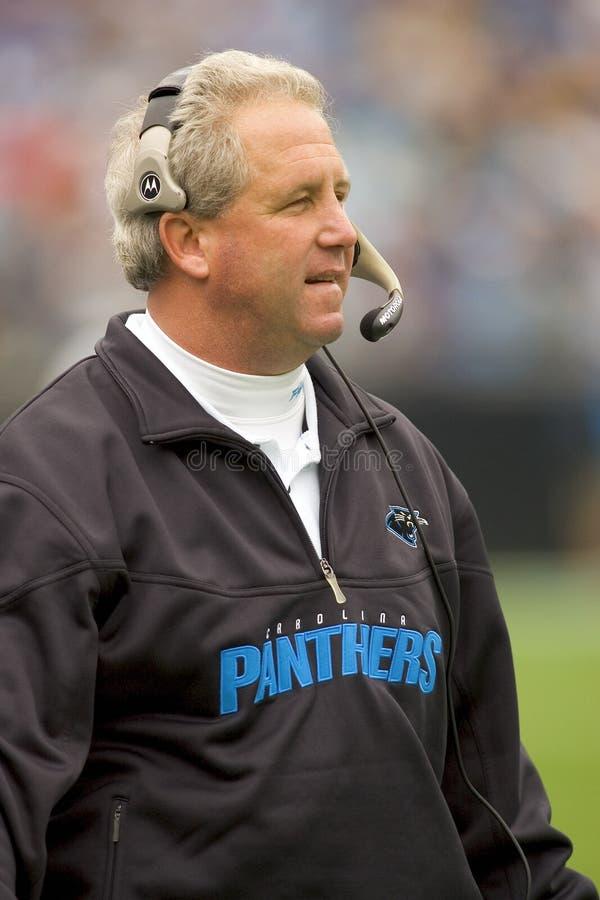 Primeiro treinador do NFL, Fox de John fotografia de stock royalty free