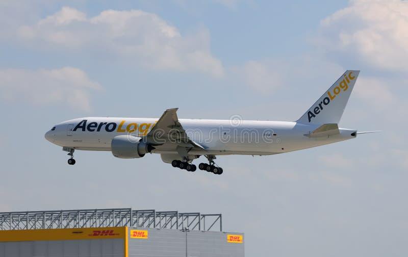 Primeiro vôo de AeroLogic em Alemanha imagem de stock royalty free