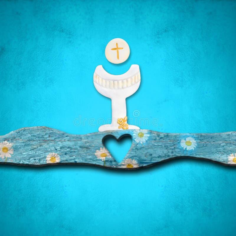 Primeiros convites do comunhão santamente ilustração do vetor