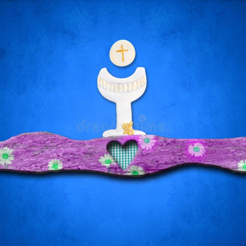 Primeiros convites do comunhão santamente ilustração stock