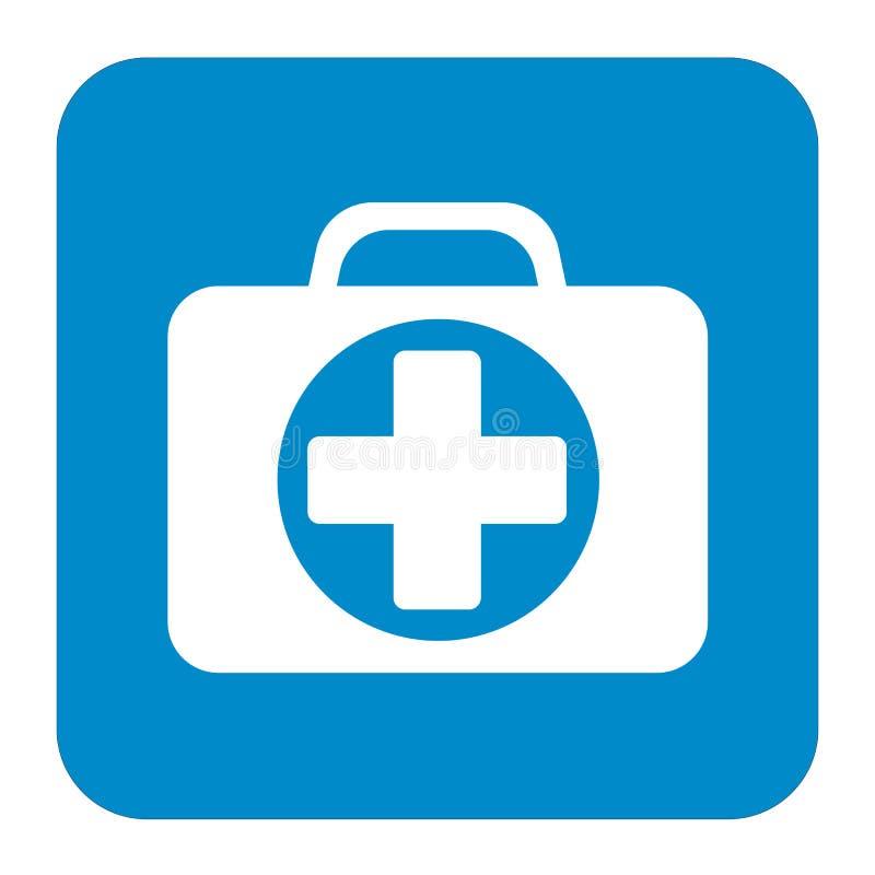 Primeiros socorros Kit Symbol e ícone dos serviços médicos ilustração royalty free