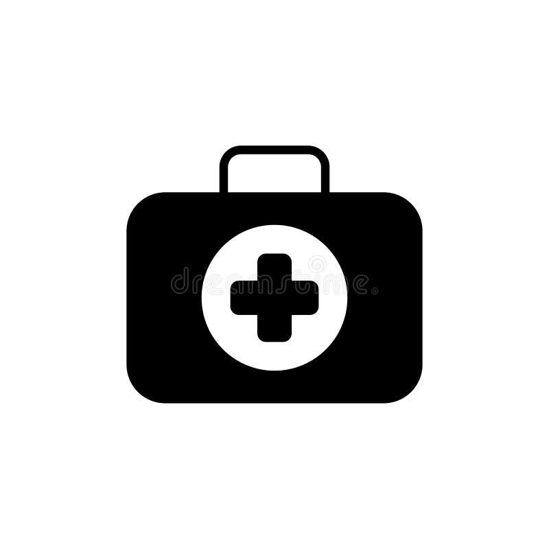 Primeiros socorros Kit Symbol e ícone dos serviços médicos Projeto liso Isolado ilustração do vetor