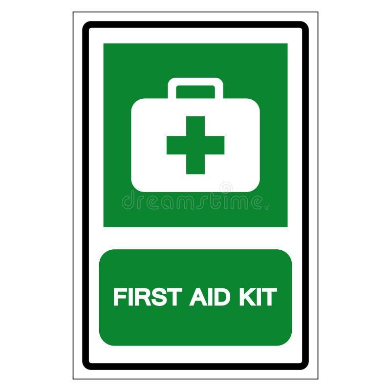 Primeiros socorros Kit Symbol Sign, ilustração do vetor, isolada na etiqueta branca do fundo EPS10 ilustração do vetor