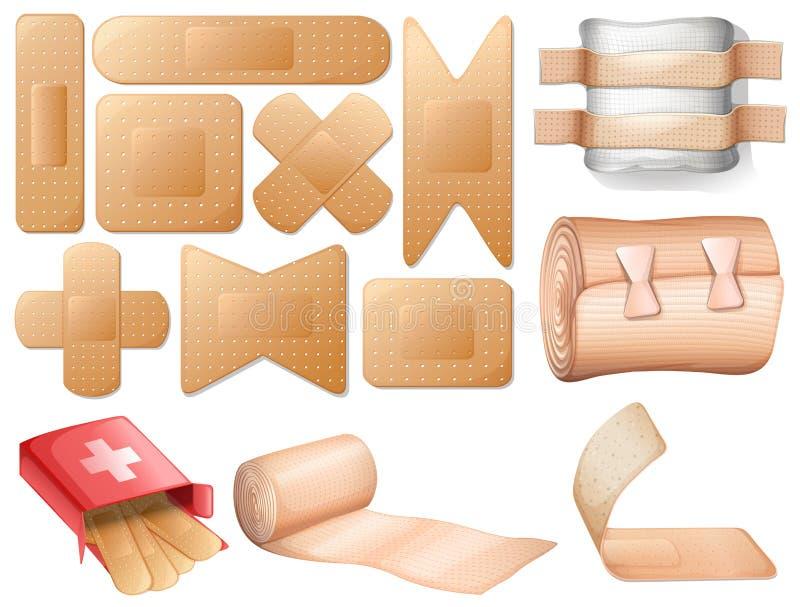 Primeiros socorros médicos ilustração stock