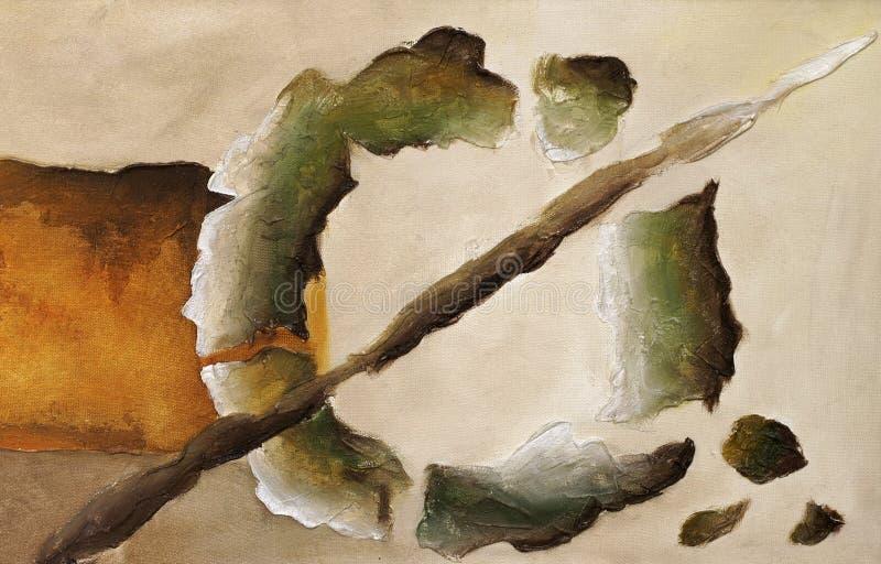 Primer abstracto de pintura ilustración del vector