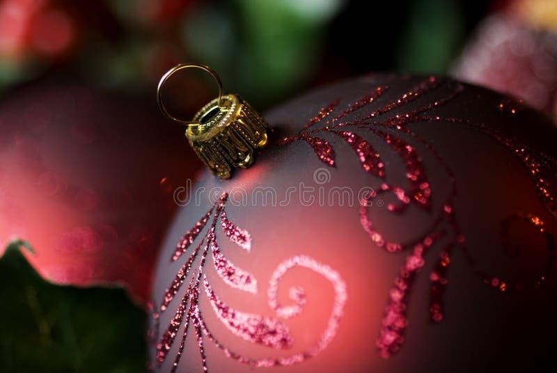 Primer abstracto del ornamento de la Navidad fotografía de archivo