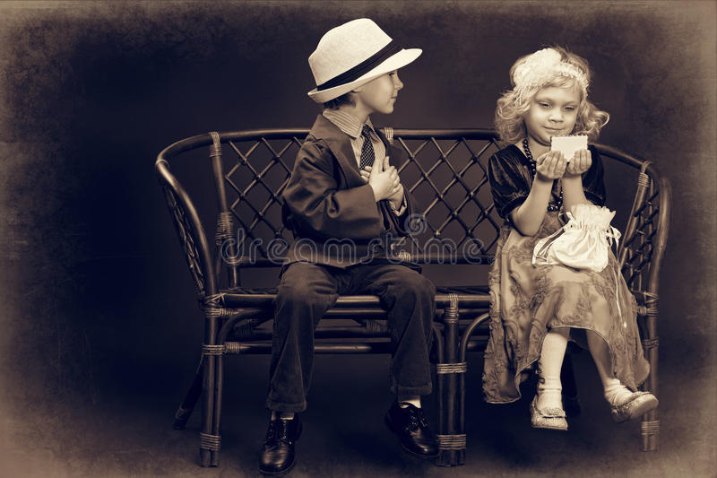 Primer amor fotografía de archivo