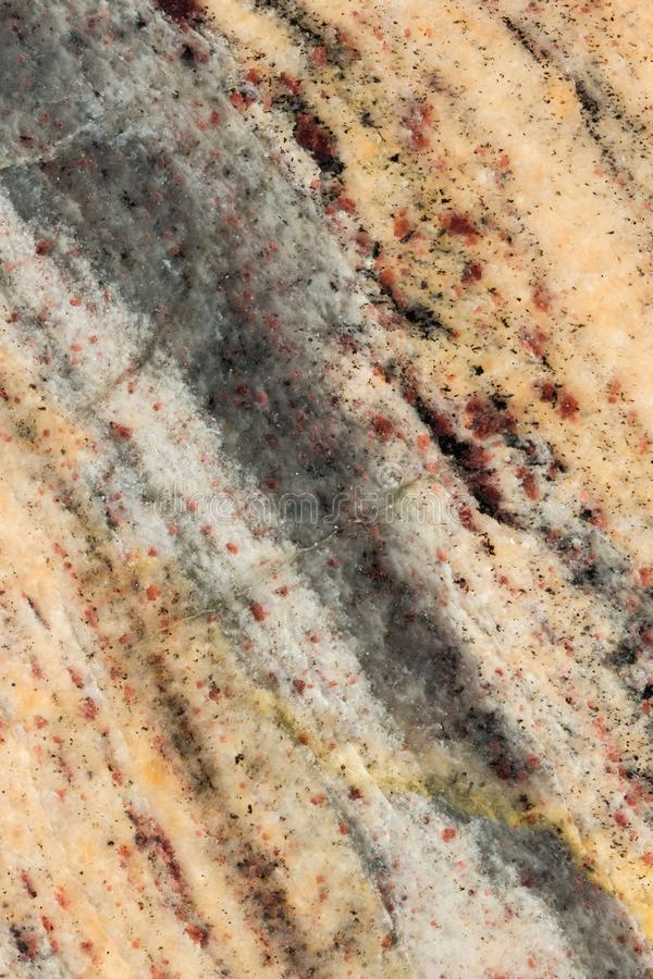 Primer anaranjado, rojo y negro del mármol pulido imágenes de archivo libres de regalías