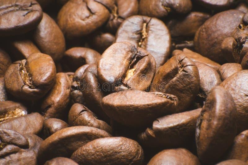 Primer asado del fondo de los granos de café imagen de archivo