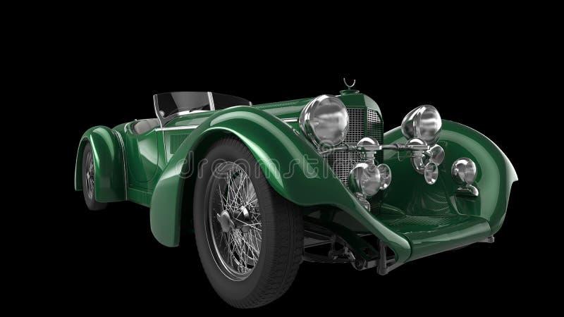 Primer automotriz del vintage del verde menta ilustración del vector