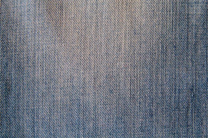 Primer azul de la tela del dril de algodón imagenes de archivo