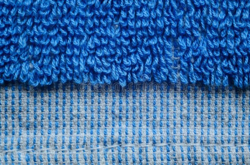 Primer azul de la textura de la toalla imagenes de archivo
