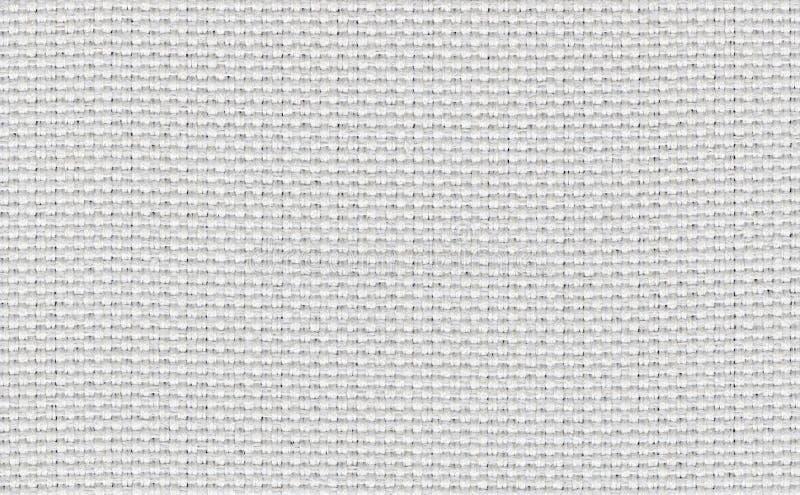 Primer blanco, contexto beige, gris claro de la textura de la muestra de la tela del color Línea de tira blanca de la tela diseño fotografía de archivo libre de regalías