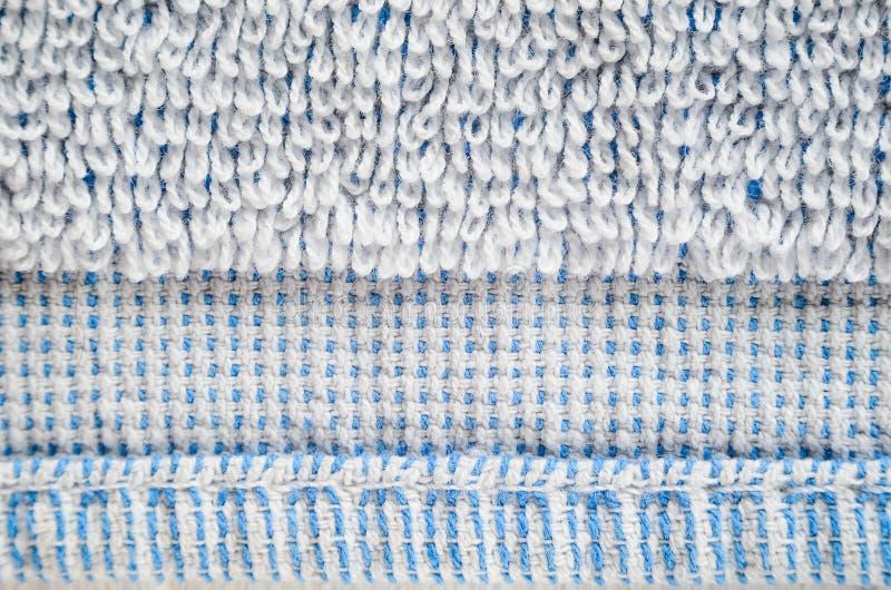 Primer blanco de la textura de la toalla fotografía de archivo libre de regalías