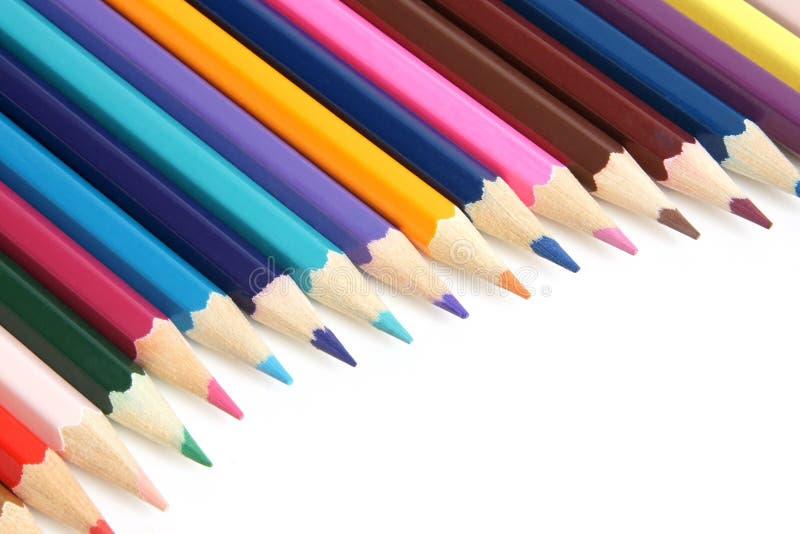 Primer coloreado de los lápices imagen de archivo
