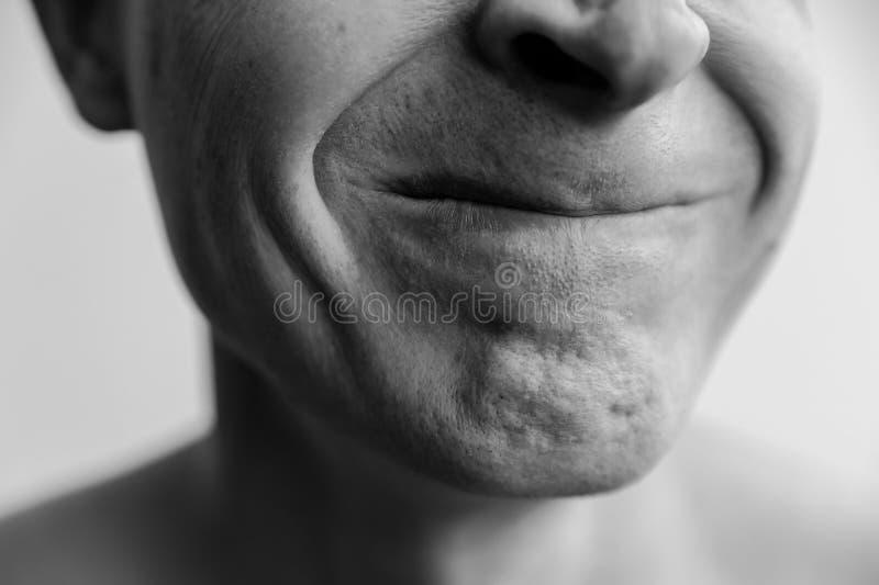 Primer comprimido de los labios foto de archivo libre de regalías