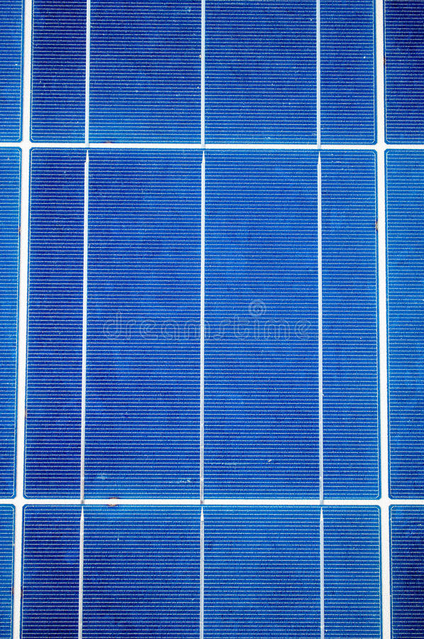 Primer con las células del panel solar imagen de archivo libre de regalías