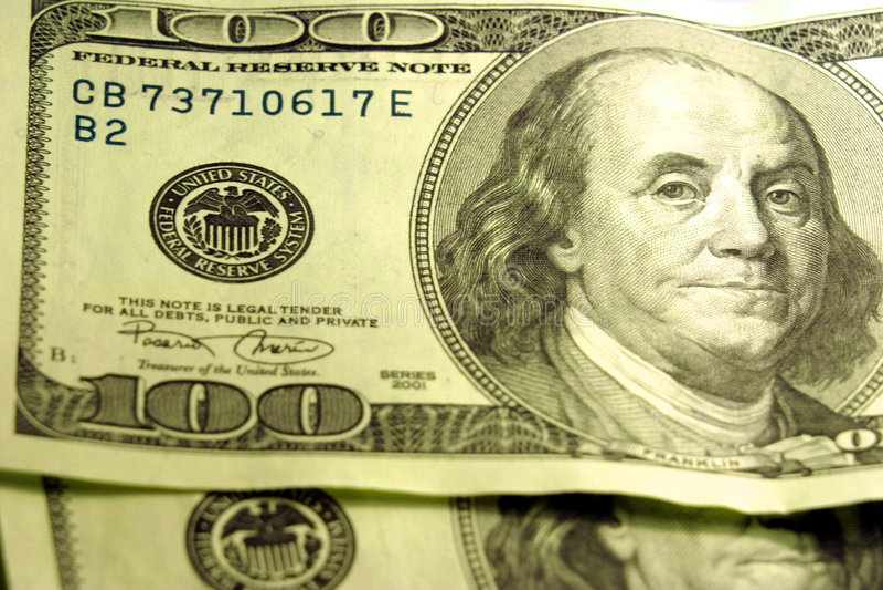 Primer De $100 Cuentas Imagenes de archivo