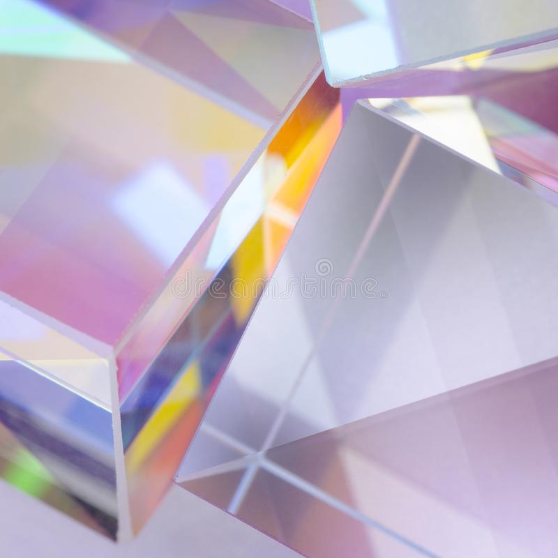 Primer de cristal brillante de los cubos del extracto fotografía de archivo libre de regalías