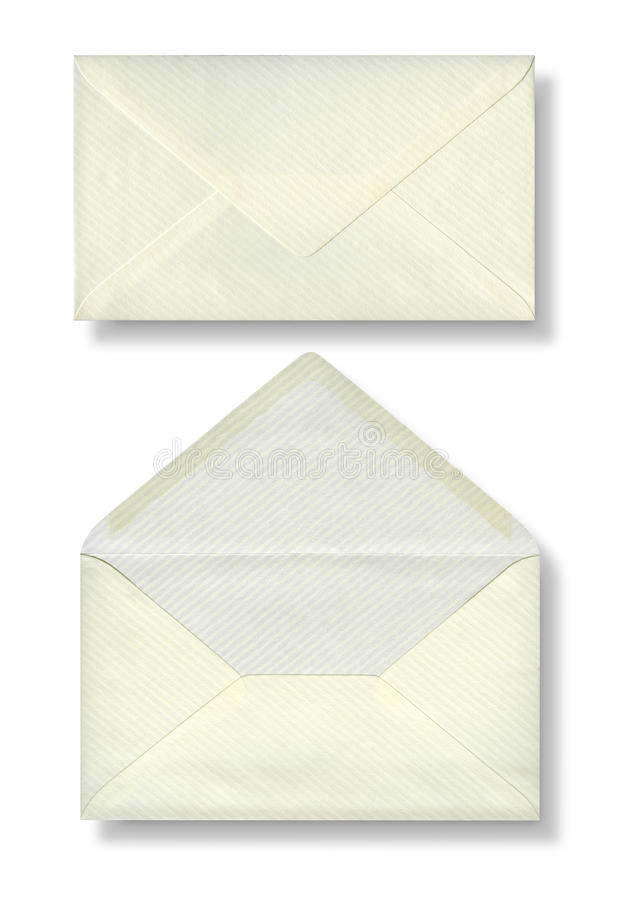 Primer de dos sobres. imágenes de archivo libres de regalías