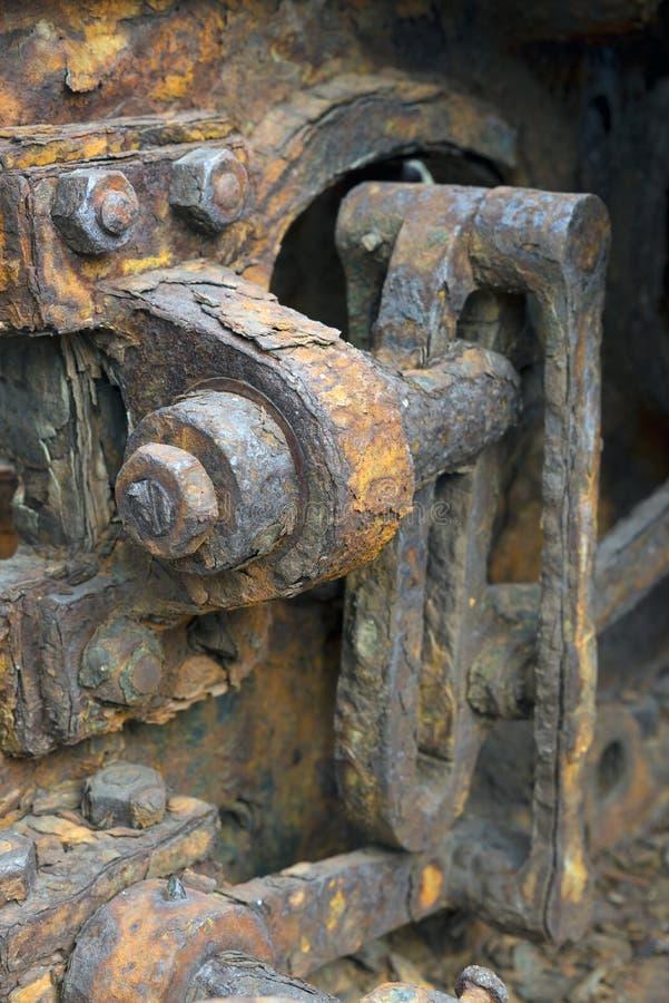 Primer de engranajes oxidados foto de archivo libre de regalías