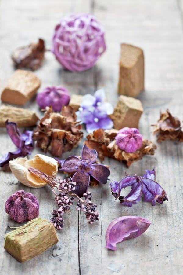 Popurrí usado para el aromatherapy fotos de archivo libres de regalías