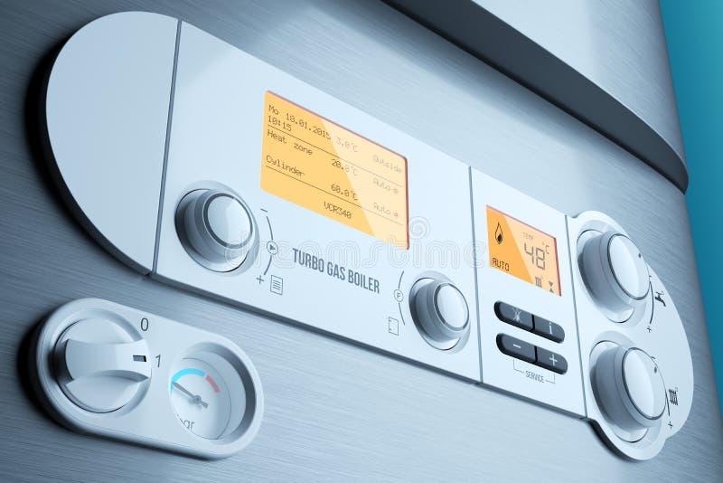 Primer de gas del panel de control de la caldera Aparato electrodoméstico ilustración del vector