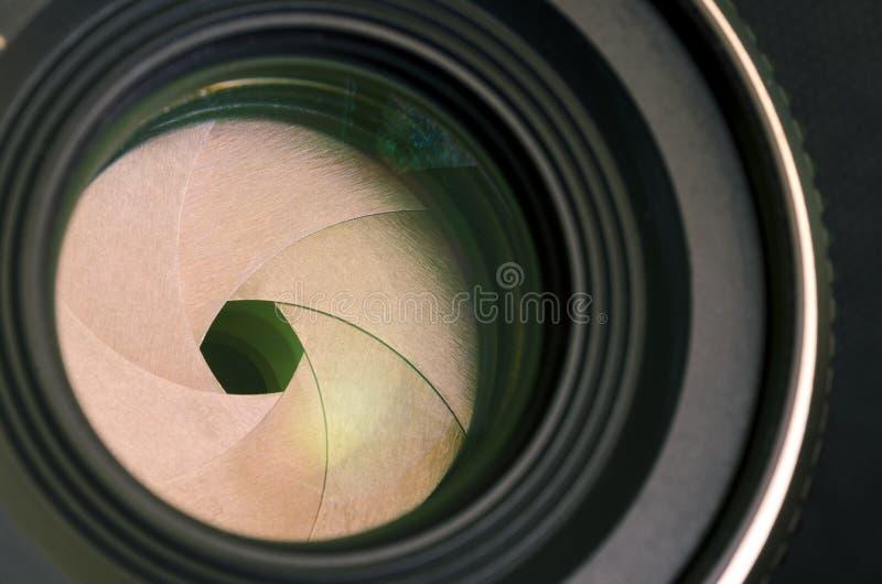 Primer de la abertura de lente de cámara imagen de archivo libre de regalías