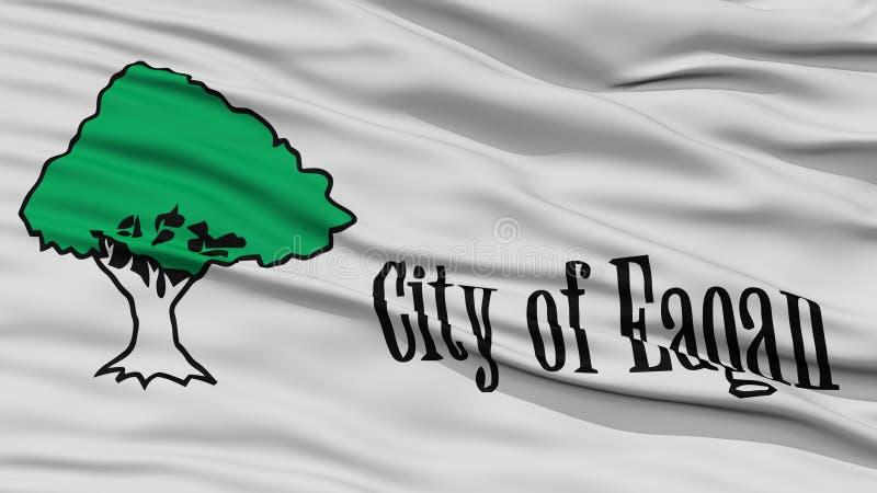 Primer de la bandera de la ciudad de Eagan libre illustration