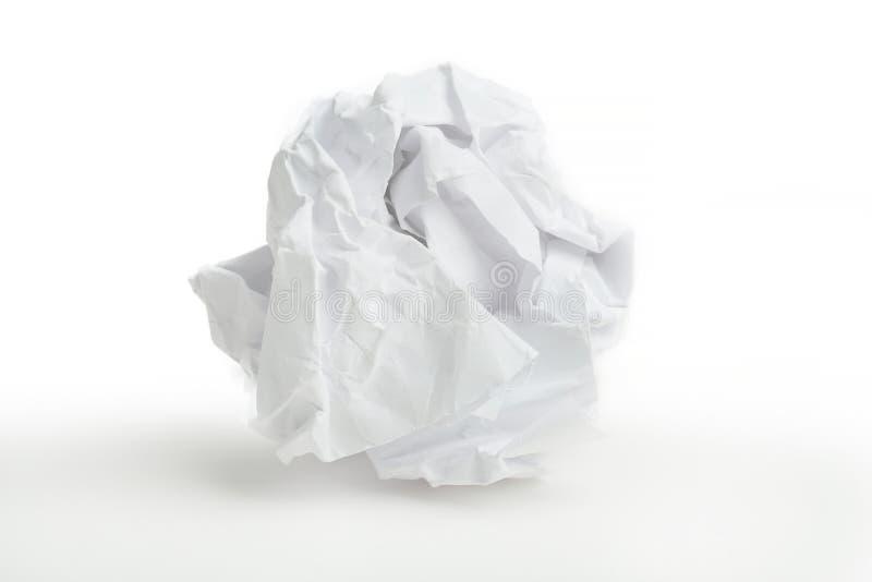 Primer de la bola de papel arrugada imagen de archivo libre de regalías