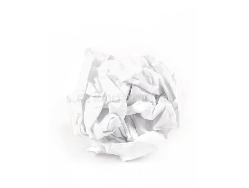 Primer de la bola de papel arrugada fotografía de archivo
