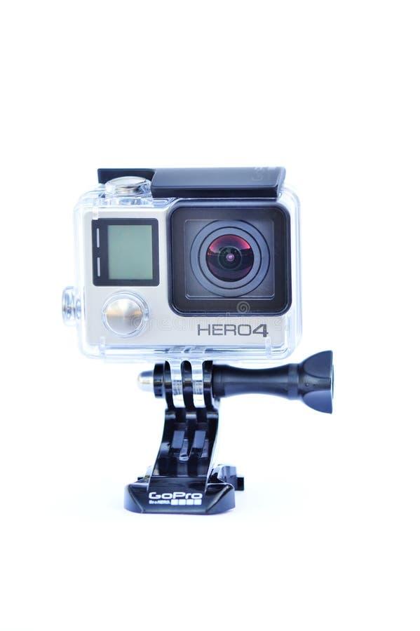 Primer de la cámara de la acción de Gopro hero4 imágenes de archivo libres de regalías