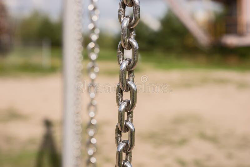 Primer de la cadena del metal imagenes de archivo