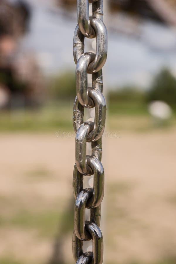 Primer de la cadena del metal fotos de archivo libres de regalías