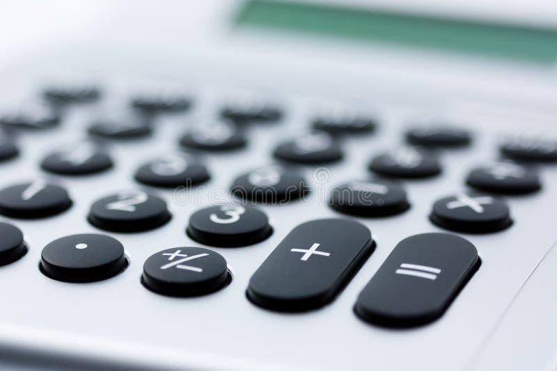 Primer de la calculadora - oficina y concepto financiero fotografía de archivo libre de regalías