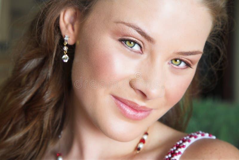 Primer de la cara de la mujer foto de archivo libre de regalías